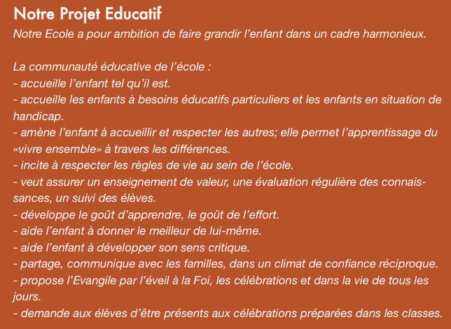Notre projet éducatif
